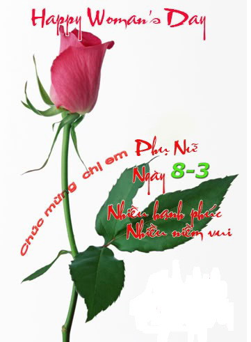 Chúc mừng 8-3-2012.
