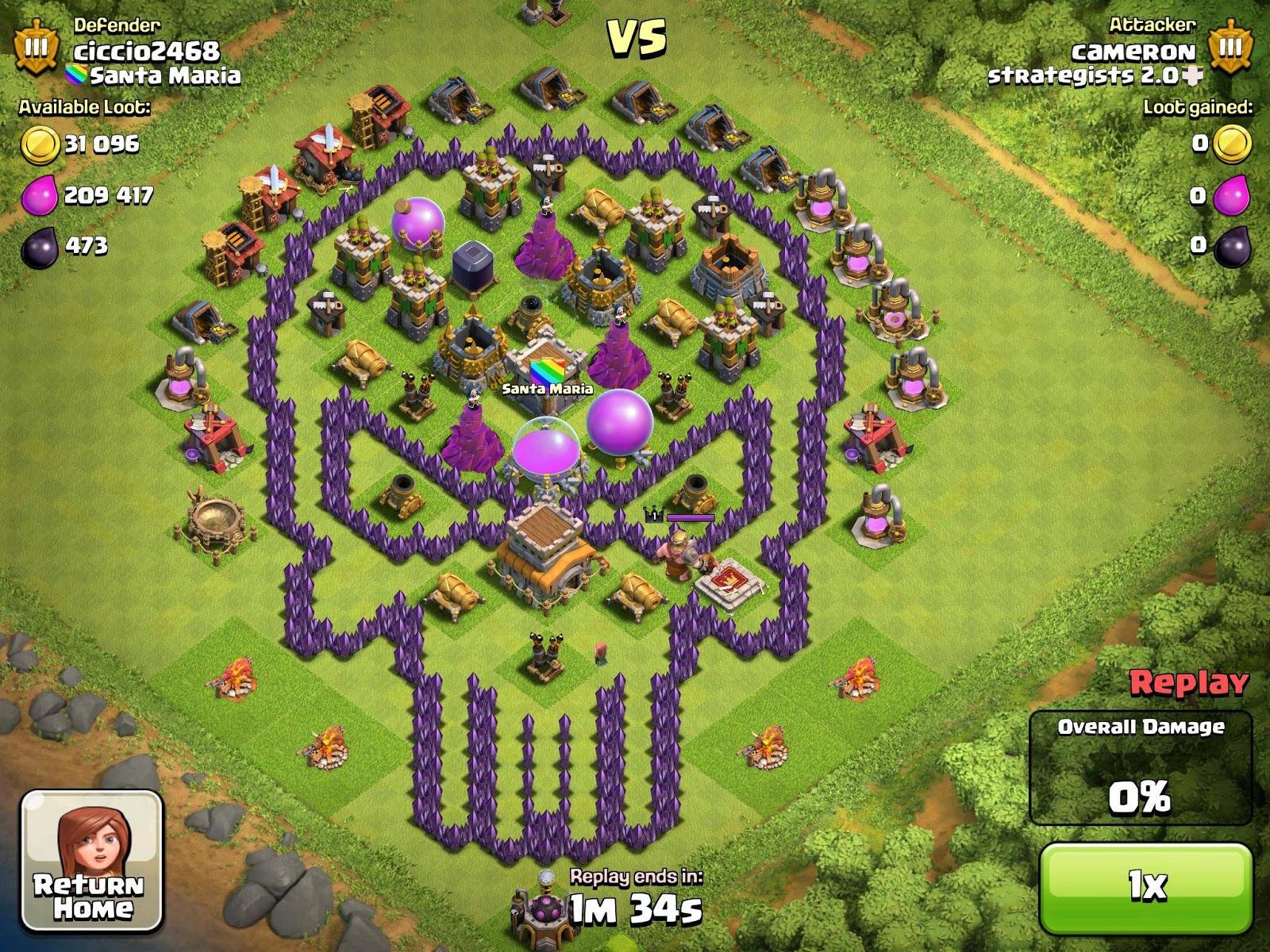 Base Coc Th 7 Keren 4
