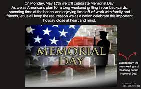 Happy Memorial Day 2016: on Monday, may 27th we will celebrate memorial day, as we as Americans pain for a long