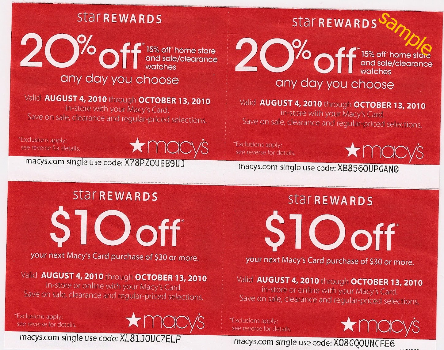Macy's coupon codes for August 14, 12222