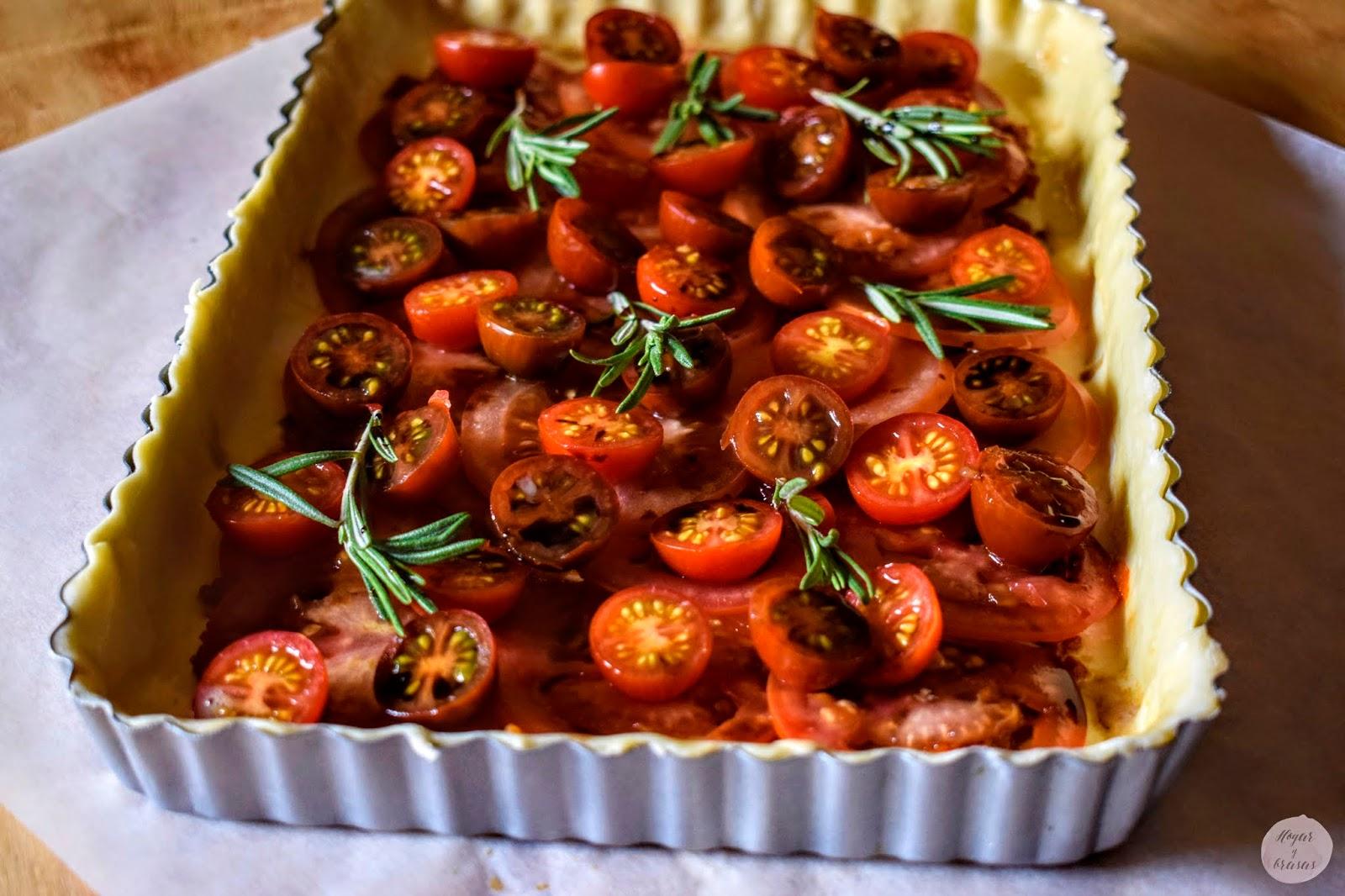 Hojaldre relleno con tomates