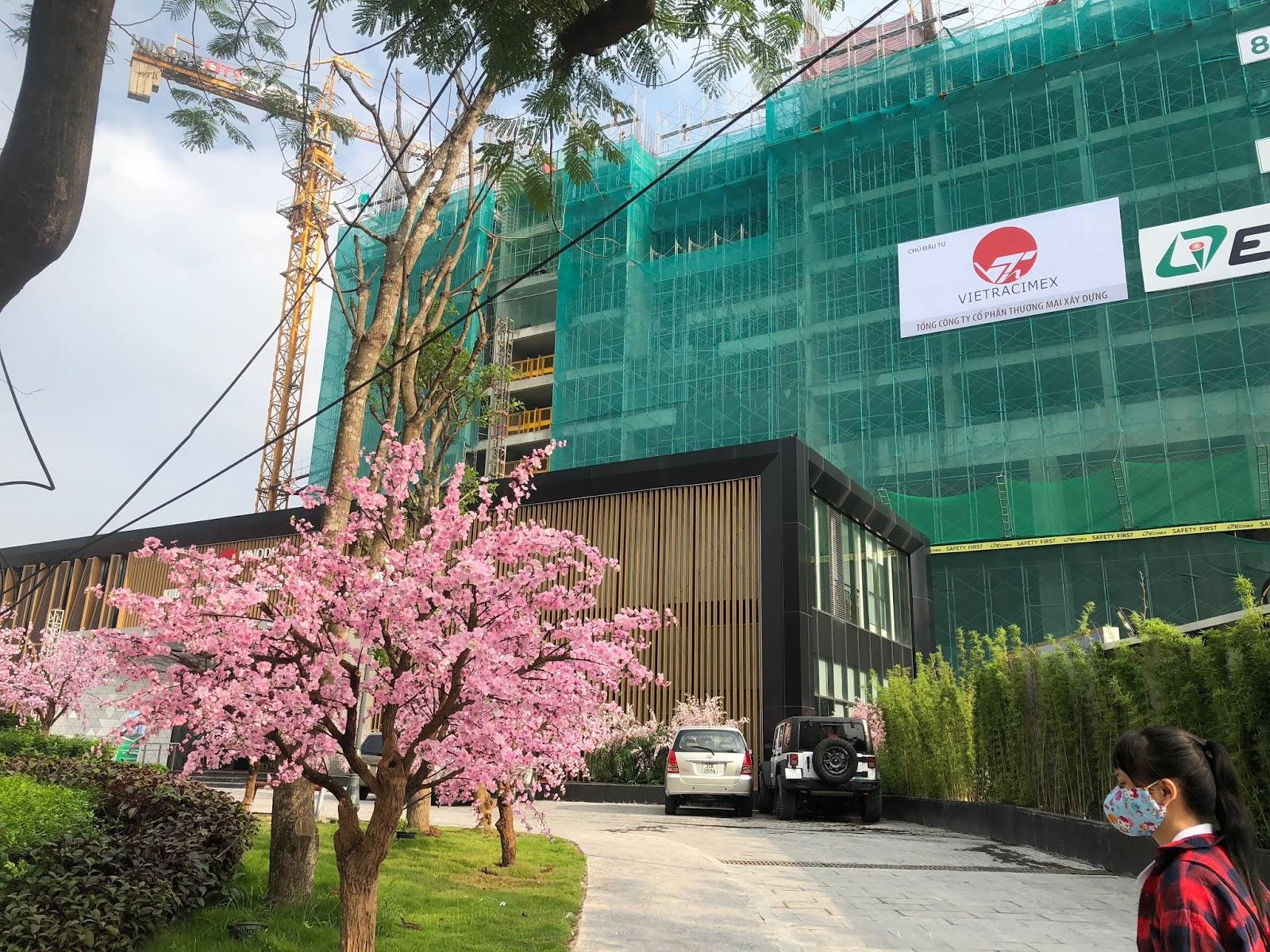 Hình ảnh thực tế toà Hinode City mặt đường Minh Khai