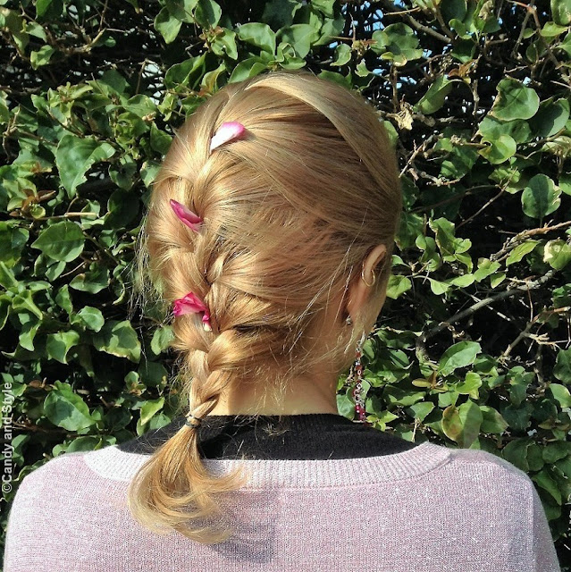 French Braid with Petals | Candy and Style