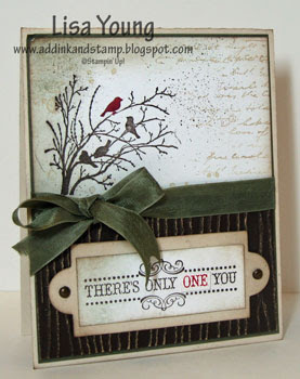 Stampin' Up! Serene Silhouette stamp set. Handmade card by Lisa Young, Add Ink and Stamp