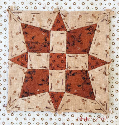 Dear Jane Quilt - Block A13 Starlight Star Bright