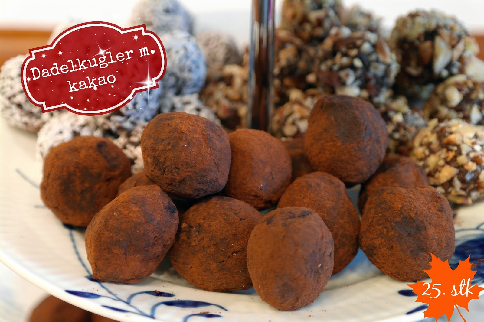 God mad og søde sager: Dadelkugler m. kakao