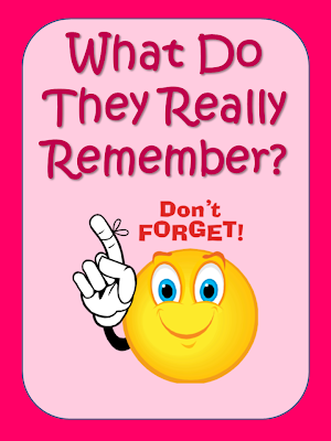 What do they really remember? This post explores my Day 100 tradition and discusses why the children remember it years later.