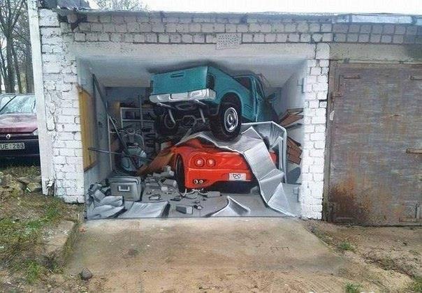 garage door artAwesome 3D Garage Door Art 11 photos