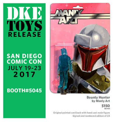 "San Diego Comic-Con 2017 Exclusive Star Wars ""Bounty Hunter"" Resin Figure by Manly Art x DKE Toys"