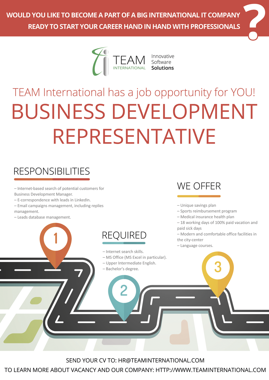Business Development Representative at TEAM International