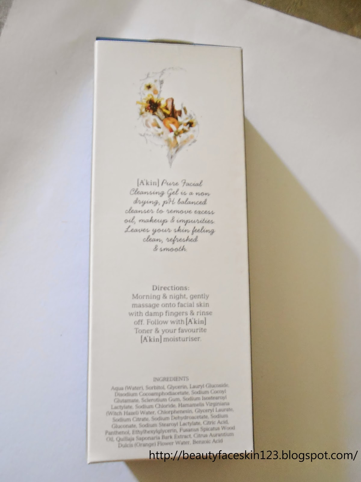 A'KIN SANDALWOOD&NEROLI PURE FACIAL CLEANSING GEL