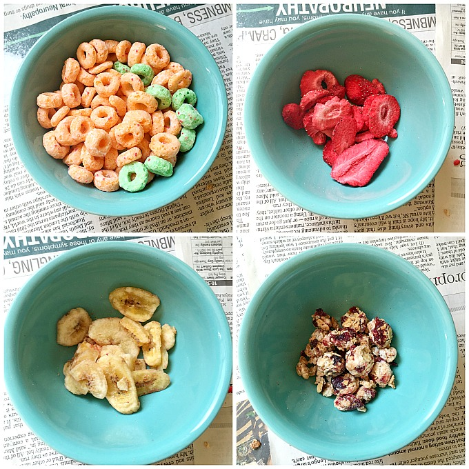Use Kellogg's cereals and healthy mix-ins to make the perfect Grab and Go After School Snack!