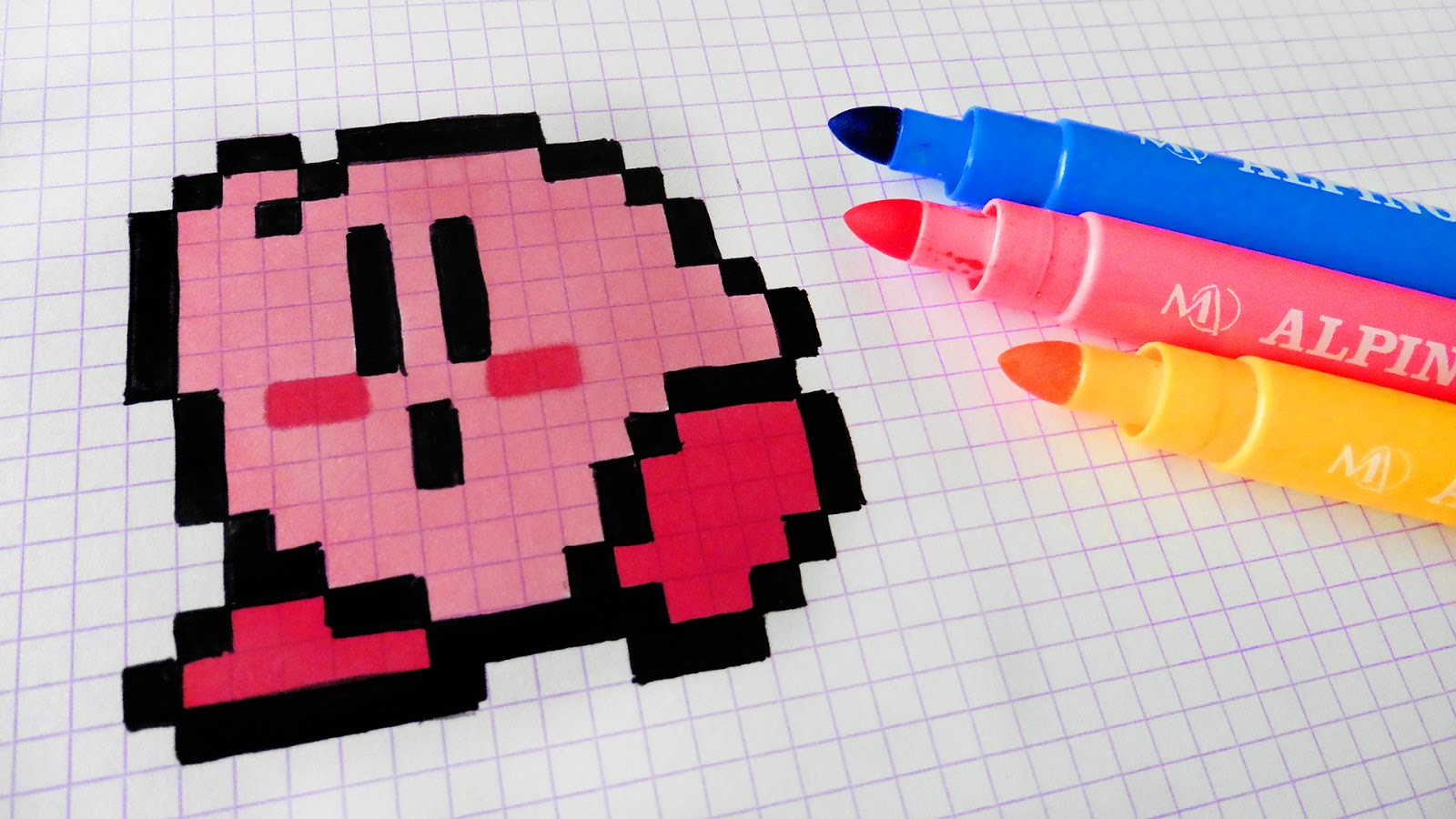 Très Handmade Pixel Art - How To Draw Kirby Kawaii #pixelart | Hello  KR94