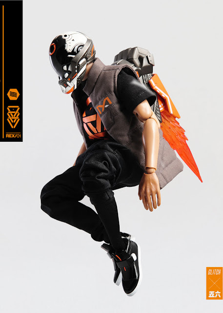 osw.zone Look at the Glitch X Machine56 - 1 / 6. Scale Bonehead: Rex 12-inch action figure images