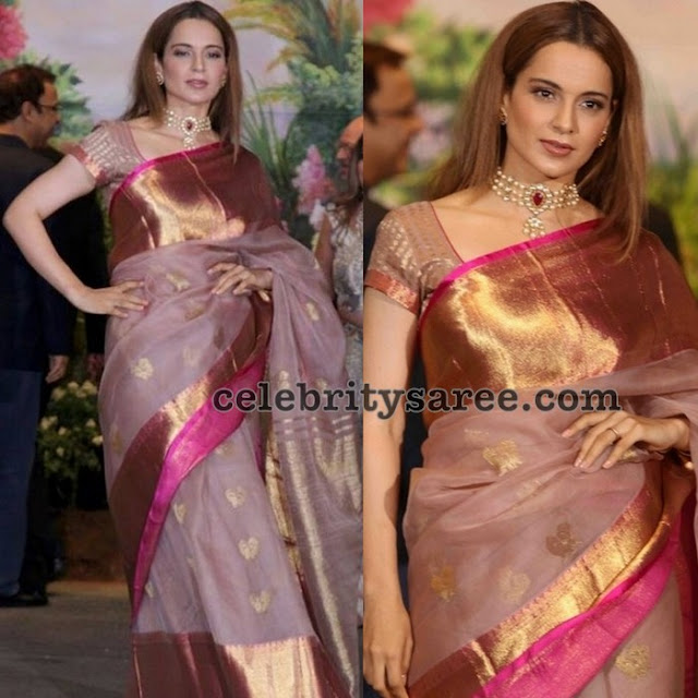 Kangana Ranaut at Sonam kapoor's Wedding