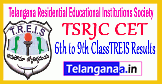 TSRJC CET 2019 TREIS Results Telangana Residential Educational Institutions Society Results