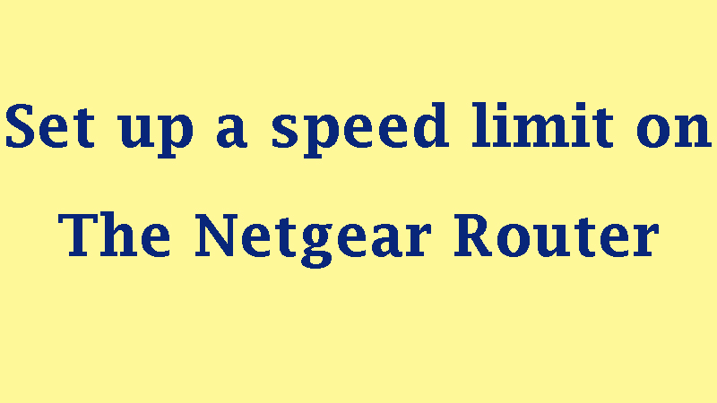 How do I set up a speed limit on the Netgear router (JNR1010)?