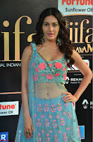 Amyra Dastur in Flower Print Choli Transparent Chunni at IIFA Utsavam Awards 18.JPG