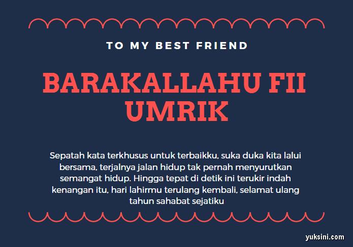 Ucapan ulang tahun islami untuk sahabat