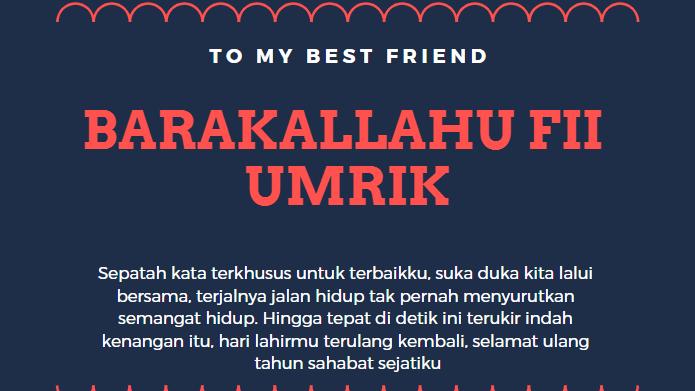 Kata Kata Ucapan Ulang Tahun Islami Untuk Sahabat