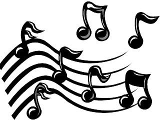 imágenes en blanco y negro de notas musicales para imprimir