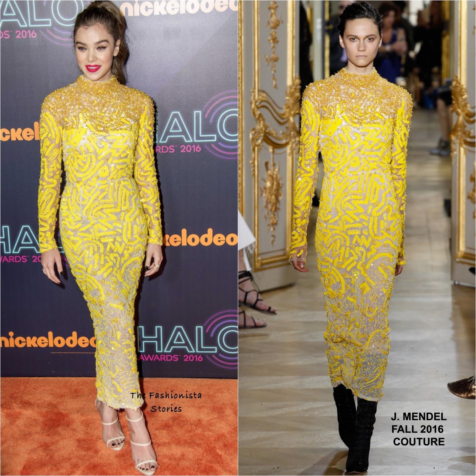 J mendel yellow dress joy