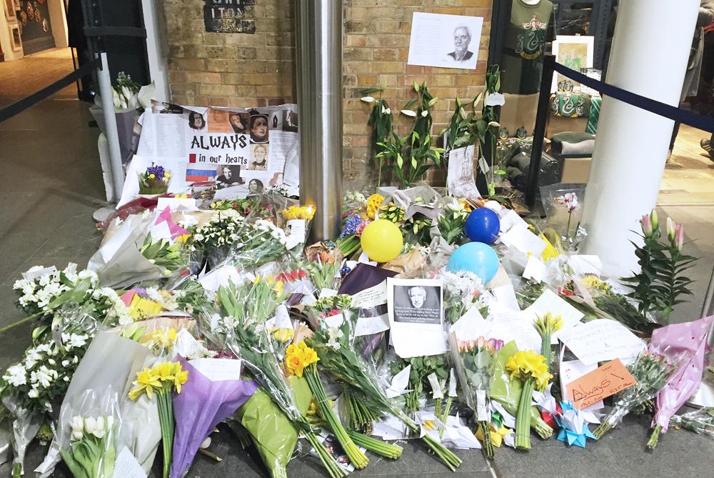 King's Cross Alan Rickman memorial flowers