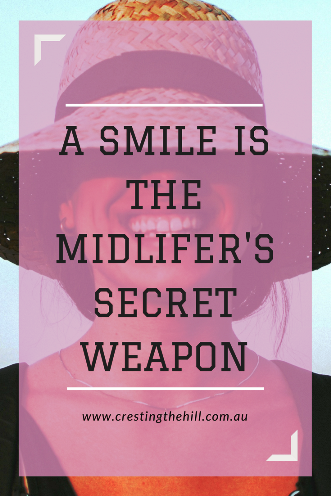 A smile is a Midlife woman's secret weapon against invisibility