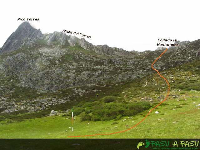 Ruta al Pico Torres y Valverde: Vista del Torres y su arista este