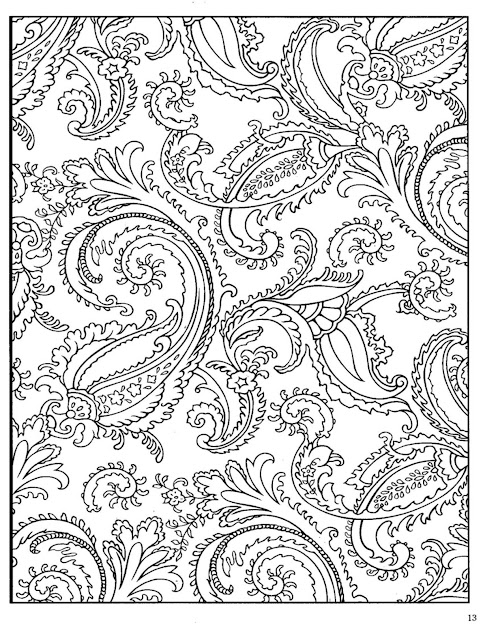 Paisley Designs Coloring Book  Bing Images