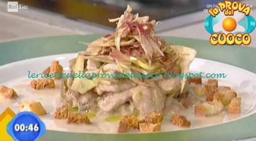 Straccetti con carciofi e consistenze di pizza romana ricetta Rossi da Prova del Cuoco