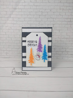Merry and Bright a card by Diane Morales | Petite Snow Stencil by Newtons Nook Designs
