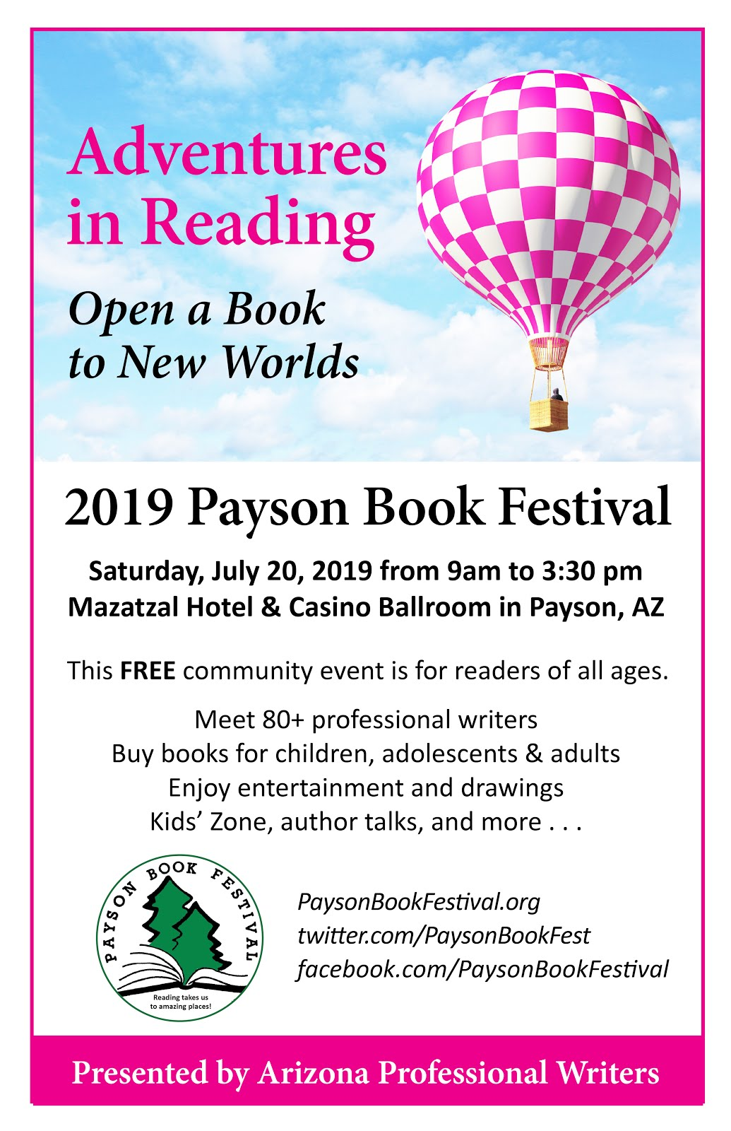 I'll be at the Payson Book Festival signing