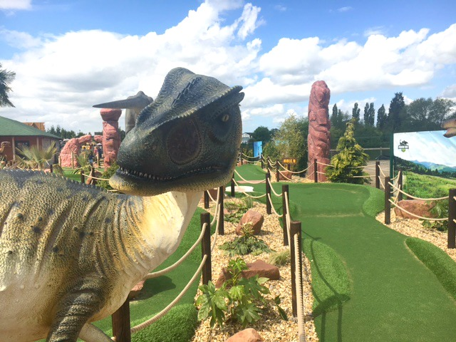 jurassic cove adventure golf at bents garden centre
