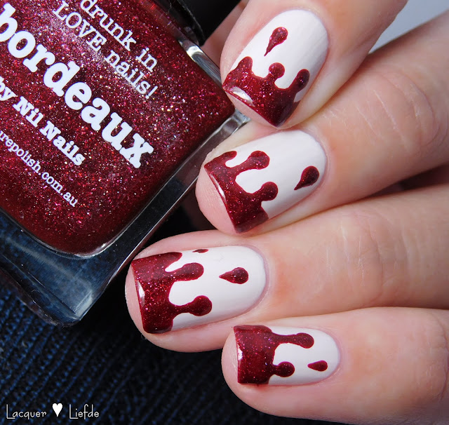 Blood Drip Nail Art Halloween Nail Art