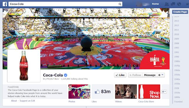 coca cola facebook page by elizabeth boni