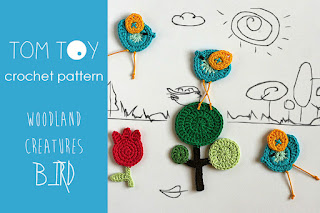 Woodland creatures Bird crochet pattern