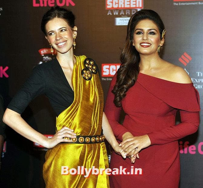 Kalki Koechlin and Huma Qureshi, Life Ok Screen Awards 2014 Red Carpet Photos
