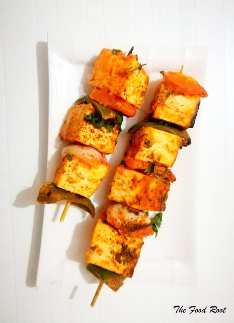 Delicate Paneer chunks and vegetables marinated in yogurt and spices, skewered and grilled to perfection!