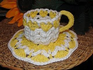 Hermosos Juegos De Te Tazas Y Platos Tejidos Al Crochet Reflejos