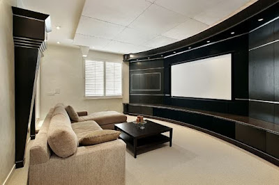 Home theater living room design
