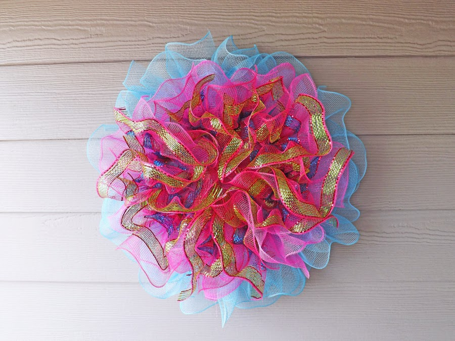 New Orleans Crafts By Design Pink Blue And Green Deco