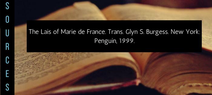 Summary of Marie de France's Les Deus Amanz Sources