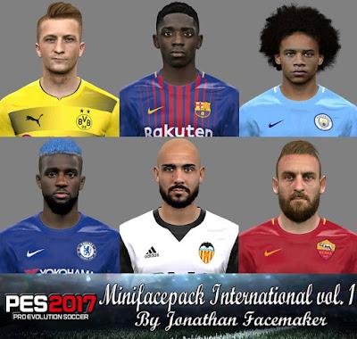 PES 2017 Mini facepack International by Jonathan Facemaker