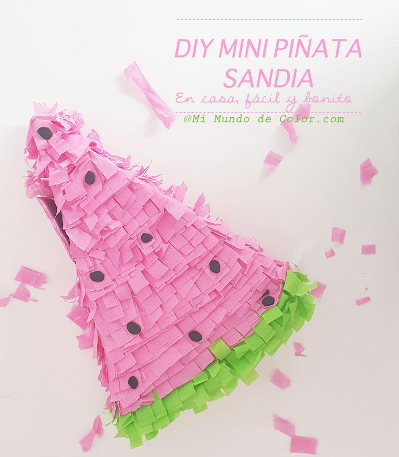 diy mini piñata sandia