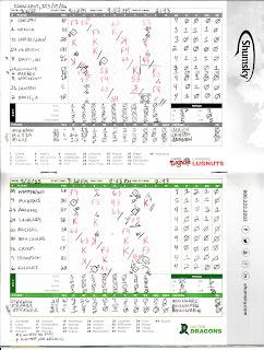 Lugnuts vs. Dragons, 09-05-15. Dragons win, 6-3.
