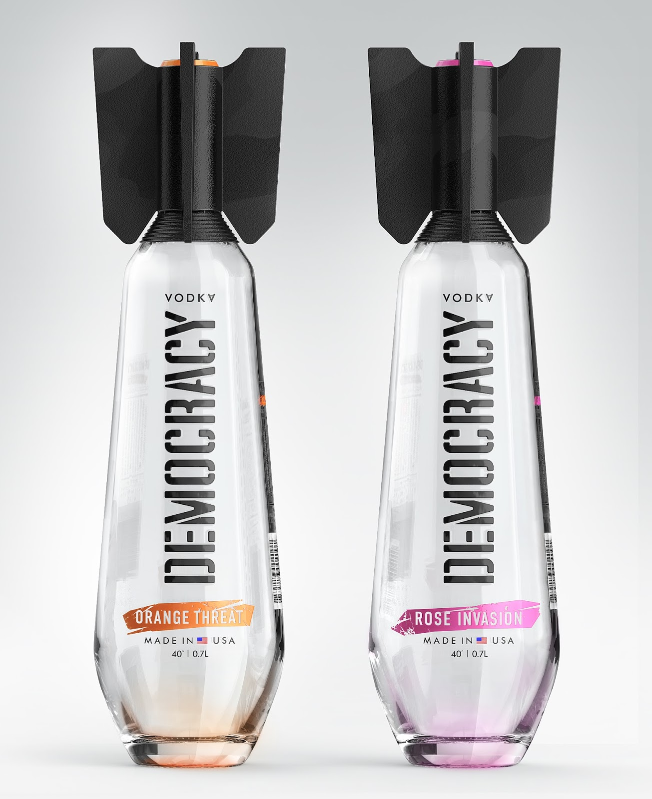 Democracy Vodka Concept On Packaging Of The World
