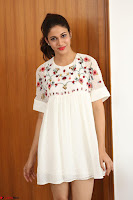 Lavanya Tripathi in Summer Style Spicy Short White Dress at her Interview  Exclusive 245.JPG