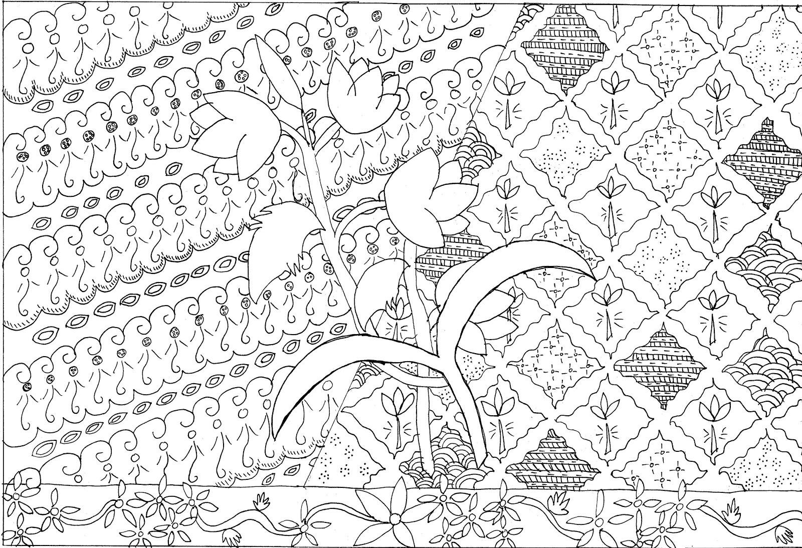 Gambar Sketsa Untuk Mewarnai Anak SD kelas 3