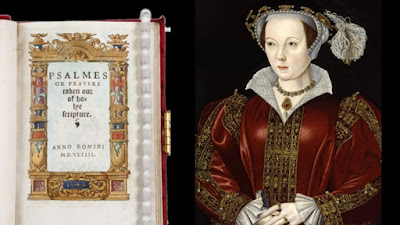 Katherine Parr and the title page of her Psalms and Prayers